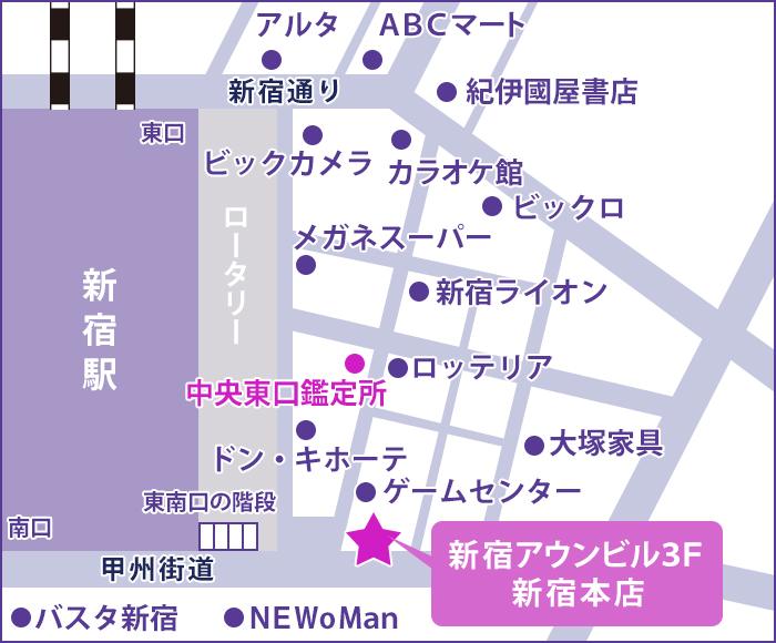 新宿店の地図
